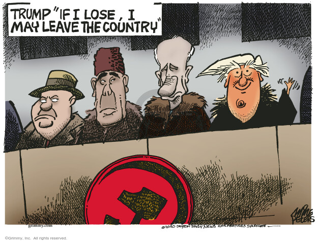 Mike Peters  Mike Peters' Editorial Cartoons 2020-10-19 Donald Trump