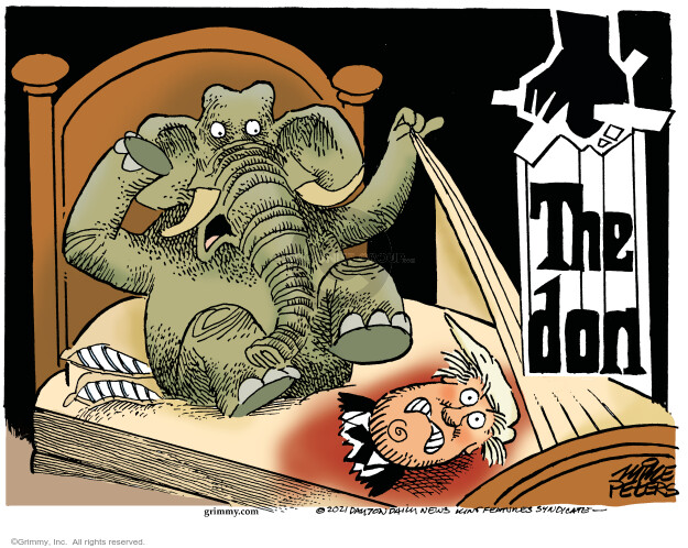 Mike Peters  Mike Peters' Editorial Cartoons 2021-01-06 Donald Trump Republicans