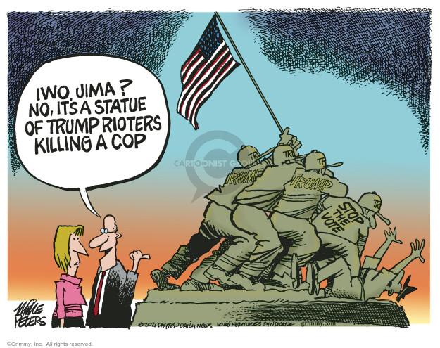 Mike Peters  Mike Peters' Editorial Cartoons 2021-02-12 police