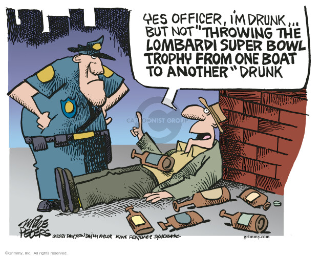 Mike Peters  Mike Peters' Editorial Cartoons 2021-02-17 officer