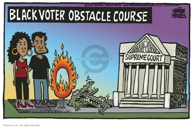 Mike Peters  Mike Peters' Editorial Cartoons 2021-03-04 voting rights