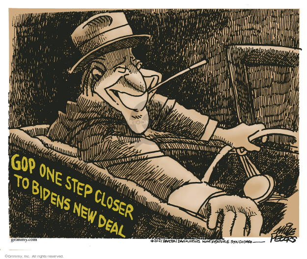 Mike Peters  Mike Peters' Editorial Cartoons 2021-08-01 infrastructure