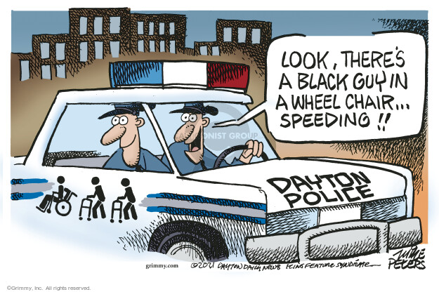 Mike Peters  Mike Peters' Editorial Cartoons 2021-10-12 police