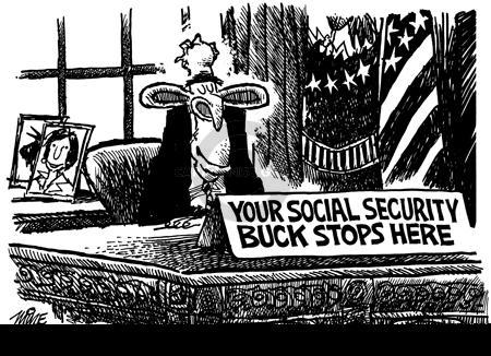 Cartoonist Mike Peters  Mike Peters' Editorial Cartoons 2004-02-28 retirement