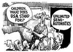 Cartoonist Mike Peters  Mike Peters' Editorial Cartoons 2000-02-14 gun