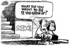 Cartoonist Mike Peters  Mike Peters' Editorial Cartoons 2001-03-08 elementary school