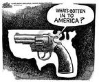 Cartoonist Mike Peters  Mike Peters' Editorial Cartoons 1999-04-09 gun