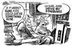 Cartoonist Mike Peters  Mike Peters' Editorial Cartoons 1999-04-13 gun