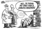 Cartoonist Mike Peters  Mike Peters' Editorial Cartoons 2004-01-02 economy
