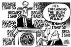 Cartoonist Mike Peters  Mike Peters' Editorial Cartoons 2003-01-05 podium