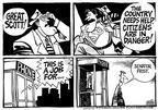 Cartoonist Mike Peters  Mike Peters' Editorial Cartoons 2003-01-06 rescue