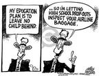 Cartoonist Mike Peters  Mike Peters' Editorial Cartoons 2002-01-10 child