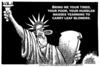 Cartoonist Mike Peters  Mike Peters' Editorial Cartoons 2005-01-16 Statue of Liberty