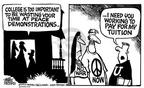 Cartoonist Mike Peters  Mike Peters' Editorial Cartoons 2003-01-23 college education