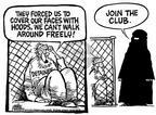 Cartoonist Mike Peters  Mike Peters' Editorial Cartoons 2002-01-26 head