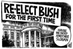 Cartoonist Mike Peters  Mike Peters' Editorial Cartoons 2004-02-19 2004 election