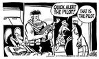 Cartoonist Mike Peters  Mike Peters' Editorial Cartoons 2003-02-28 machine gun
