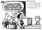 Cartoonist Mike Peters  Mike Peters' Editorial Cartoons 2002-03-02 air travel safety
