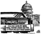 Cartoonist Mike Peters  Mike Peters' Editorial Cartoons 2004-03-04 gun