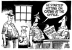 Cartoonist Mike Peters  Mike Peters' Editorial Cartoons 2005-03-09 manager