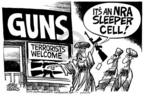 Cartoonist Mike Peters  Mike Peters' Editorial Cartoons 2005-03-12 gun