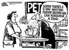 Cartoonist Mike Peters  Mike Peters' Editorial Cartoons 2002-03-25 gun