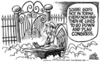 Cartoonist Mike Peters  Mike Peters' Editorial Cartoons 2005-03-26 euthanasia
