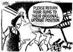 Cartoonist Mike Peters  Mike Peters' Editorial Cartoons 2002-05-09 gun