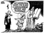 Cartoonist Mike Peters  Mike Peters' Editorial Cartoons 2004-05-22 amendment