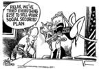 Cartoonist Mike Peters  Mike Peters' Editorial Cartoons 2005-05-27 political commercial