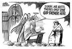 Cartoonist Mike Peters  Mike Peters' Editorial Cartoons 2002-06-14 Saint Peter