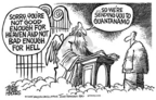 Cartoonist Mike Peters  Mike Peters' Editorial Cartoons 2005-06-18 saint
