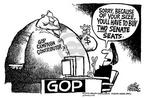 Cartoonist Mike Peters  Mike Peters' Editorial Cartoons 2002-06-25 two