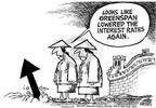 Cartoonist Mike Peters  Mike Peters' Editorial Cartoons 2003-06-29 decrease