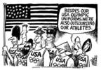 Mike Peters  Mike Peters' Editorial Cartoons 2004-06-29 2004 Olympics