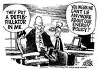 Cartoonist Mike Peters  Mike Peters' Editorial Cartoons 2001-07-01 policy