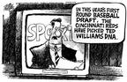 Cartoonist Mike Peters  Mike Peters' Editorial Cartoons 2002-07-14 baseball hitter