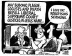 Cartoonist Mike Peters  Mike Peters' Editorial Cartoons 2003-07-19 television cartoon