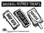 Cartoonist Mike Peters  Mike Peters' Editorial Cartoons 2002-07-24 baseball hitter