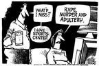 Cartoonist Mike Peters  Mike Peters' Editorial Cartoons 2003-07-25 association