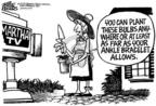 Cartoonist Mike Peters  Mike Peters' Editorial Cartoons 2005-08-07 gardening