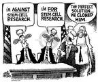 Cartoonist Mike Peters  Mike Peters' Editorial Cartoons 2001-08-12 stem cell research