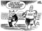 Cartoonist Mike Peters  Mike Peters' Editorial Cartoons 2003-09-13 football player