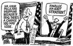 Cartoonist Mike Peters  Mike Peters' Editorial Cartoons 2003-09-18 dropping