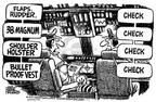 Cartoonist Mike Peters  Mike Peters' Editorial Cartoons 2001-09-28 gun