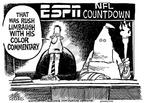 Cartoonist Mike Peters  Mike Peters' Editorial Cartoons 2003-10-04 football player