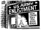 Cartoonist Mike Peters  Mike Peters' Editorial Cartoons 2005-12-09 military strategy