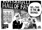 Cartoonist Mike Peters  Mike Peters' Editorial Cartoons 2006-03-12 baseball