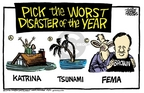 Cartoonist Mike Peters  Mike Peters' Editorial Cartoons 2006-04-30 rescue