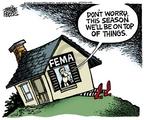 Cartoonist Mike Peters  Mike Peters' Editorial Cartoons 2006-06-03 worry